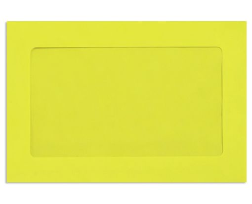 6 x 9 Full Face Window Envelopes Citrus