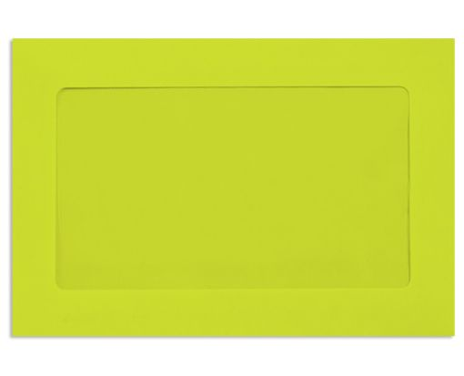 6 x 9 Full Face Window Envelopes Wasabi