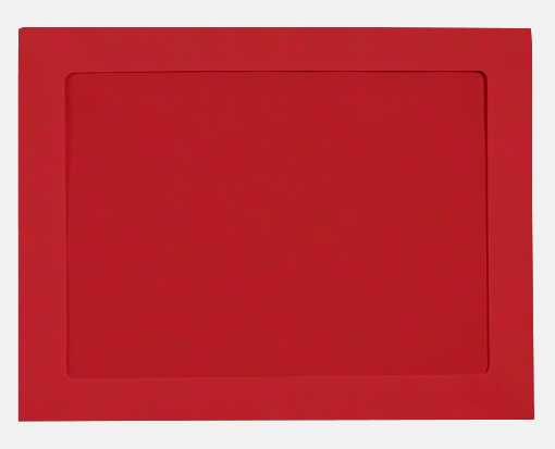 9 x 12 Full Face Window Envelopes Ruby Red