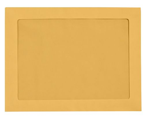 9 x 12 Full Face Window Envelopes 28lb. Brown Kraft
