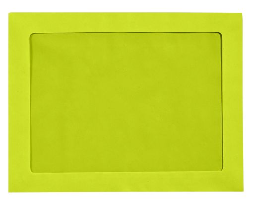 9 x 12 Full Face Window Envelopes Wasabi
