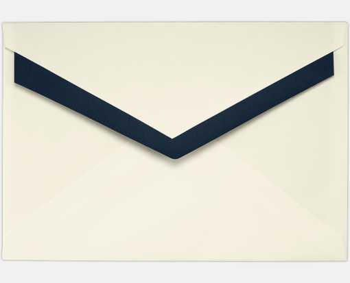 5 7/16 X 7 7/8 Foil Lined Contour Flap Envelope Natural w/Blue Lining