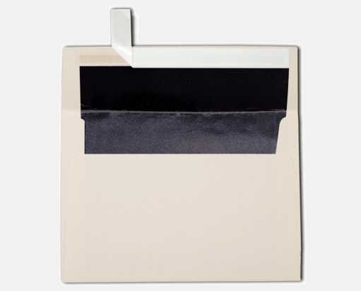 A7 Foil Lined Invitation Envelopes (5 1/4 x 7 1/4) Natural w/Black LUX Lining