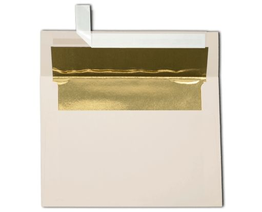 A7 Foil Lined Invitation Envelopes (5 1/4 x 7 1/4) Natural w/Gold LUX Lining