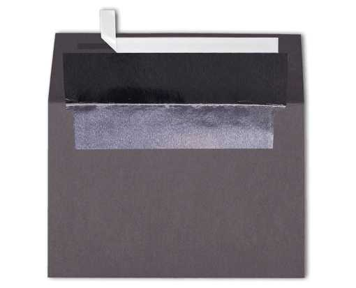A4 Foil Lined Invitation Envelopes (4 1/4 x 6 1/4) Smoke w/Silver LUX Lining