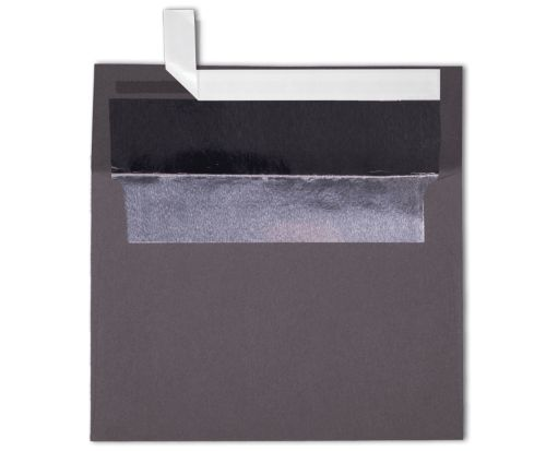 A7 Foil Lined Invitation Envelopes (5 1/4 x 7 1/4) Smoke w/Silver LUX Lining