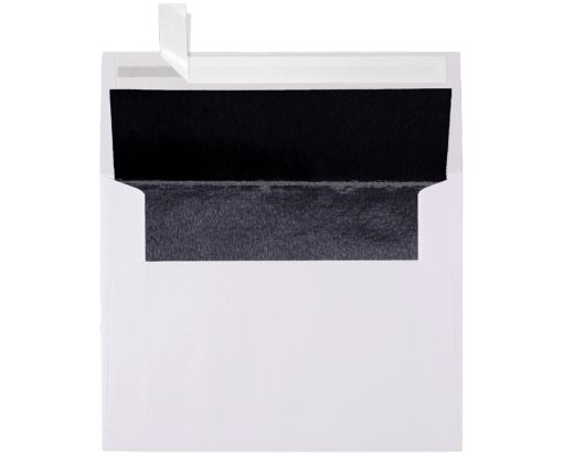 A2 Invitation Lined Envelopes (4 3/8 x 5 3/4) White w/Black LUX Lining