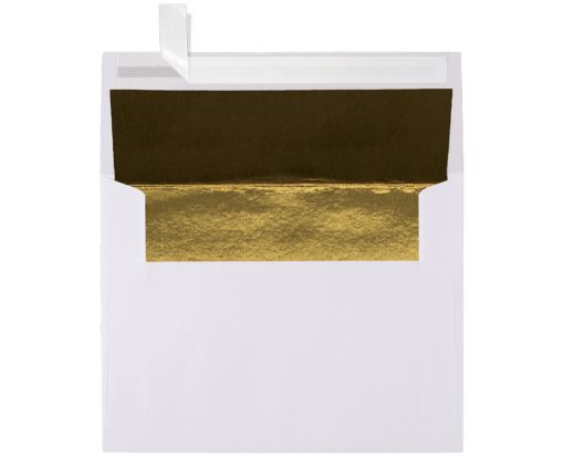 A2 (4 3/8 x 5 3/4) - White w/Gold LUX Lining White w/Gold LUX Lining