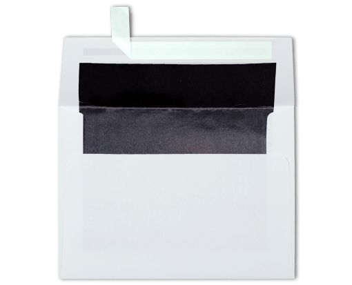 A6 Foil Lined Invitation Envelopes (4 3/4 x 6 1/2) White w/Black LUX Lining