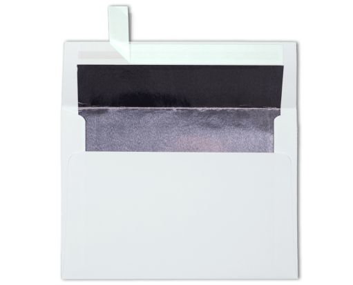 A7 Foil Lined Invitation Envelopes (5 1/4 x 7 1/4) White w/Silver LUX Lining