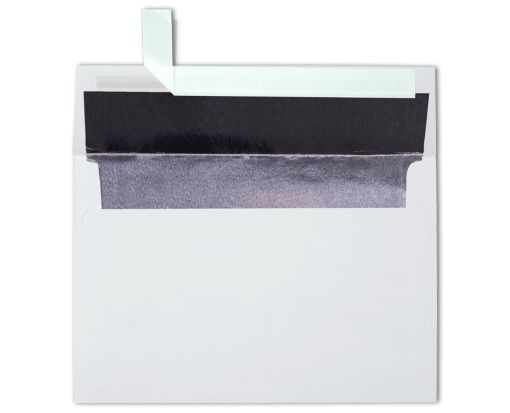 A8 Lined Envelopes (5 1/2 x 8 1/8) White w/Silver LUX Lining