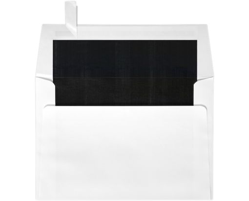 6 1/2 x 6 1/2 Square Lined Envelopes White w/Black LUX Lining