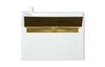 Photo Greeting Invitation Envelopes White w/Gold LUX Lining