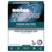 8 1/2 x 11 Polaris Premium Laser Paper - 3 Hole Punch - Pack of 500 Sheet