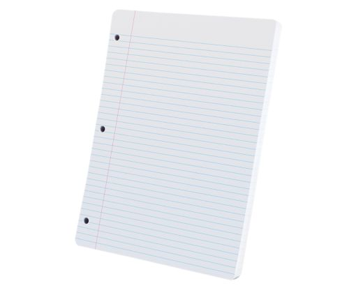 8 1/2 x 11 Oxford Loose Leaf Paper - College Ruled White