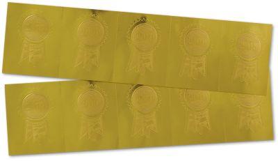Embossed Foil Seals (1 1/4 x 2) Gold 2019 Ribbon