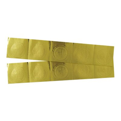 Embossed Foil Seals (1 1/2) Gold Graduate