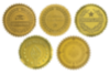 Embossed Foil Seals (1 1/2) Gold Excellence