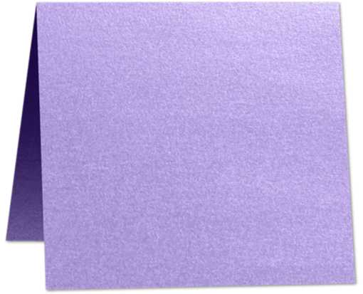 3 x 3 Folded  Square Card Amethyst Metallic
