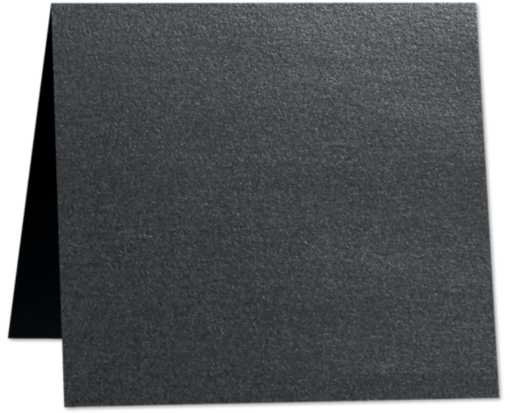 3 x 3 Folded  Square Card Anthracite Metallic