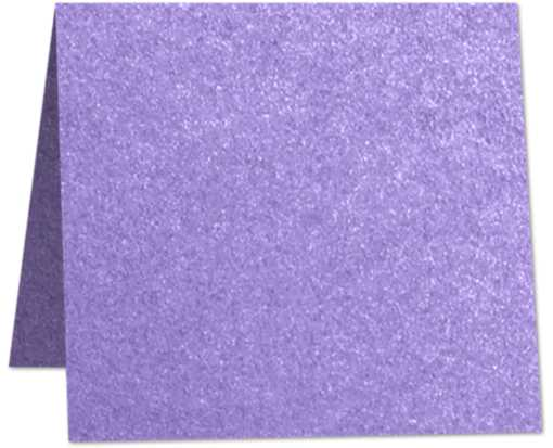 6 x 6 Square Folded Card Amethyst Metallic