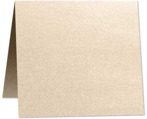 6 x 6 Square Folded Card Taupe Metallic