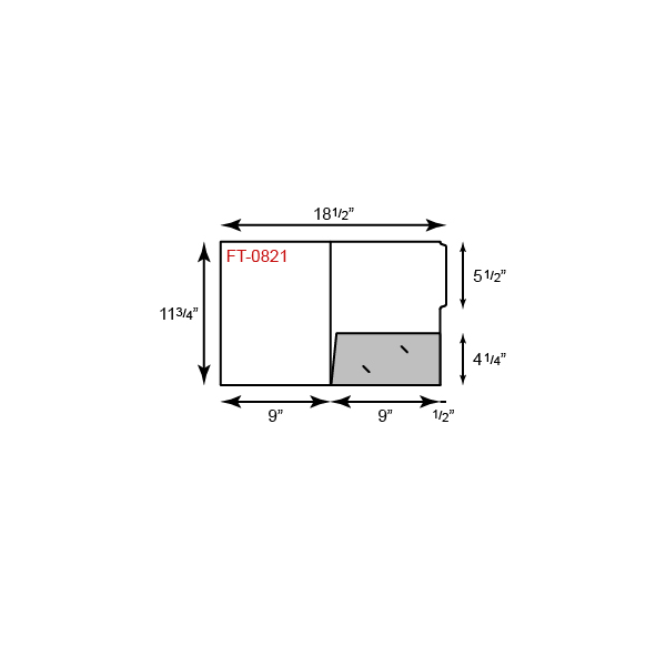 "9"" x 12"" Presentation Folders - Standard One Pocket (Right) w/ File Tab"