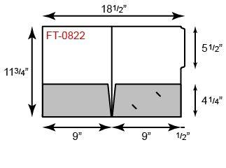 9 x 11 3/4 Presentation Folders - Half File Tab