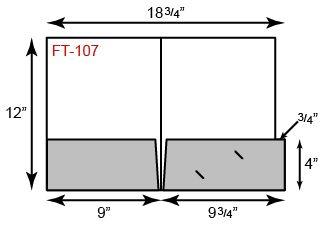 9 x 12 Presentation Folders - File Tab on Pocket