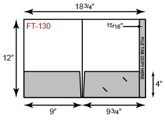 9 x 12 Presentation Folders - Full File Tab