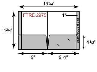 9 3/4 x 11 3/4 Presentation Folders - Reinforced Edges w/ Full File Tab