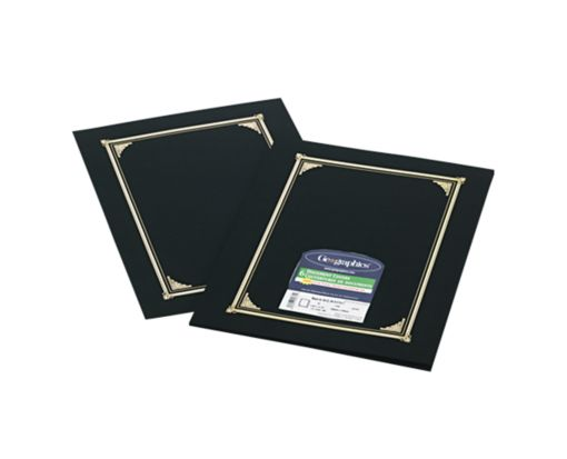9 3/4 x 12 1/2 Certificate/Document Cover Black Linen
