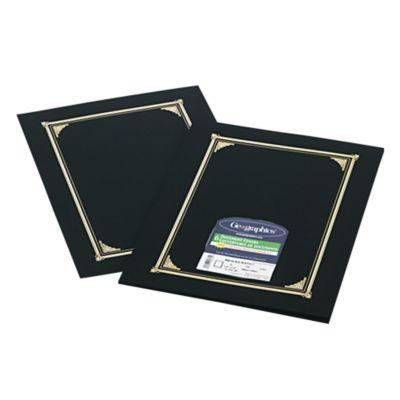 9 3/4 x 12 1/2 Certificate/Document Cover Black Linen