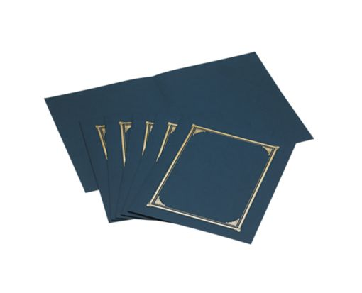 9 3/4 x 12 1/2 Certificate/Document Cover Navy Linen