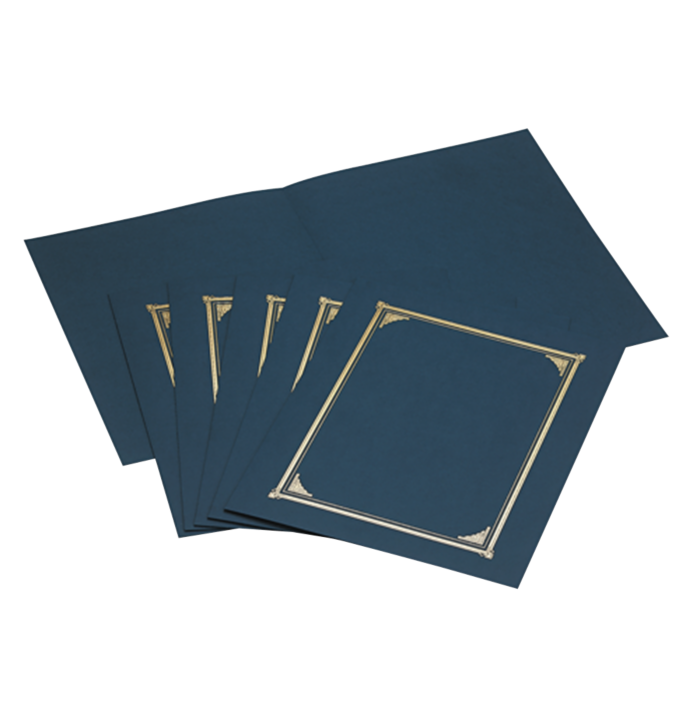 9 3/4 x 12 1/2 Certificate/Document Cover Navy Linen