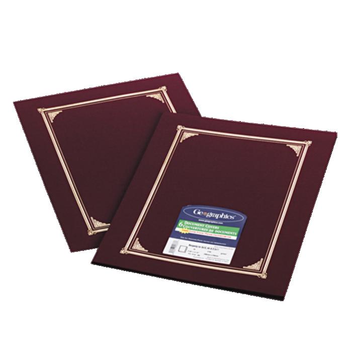 9 3/4 x 12 1/2 Certificate/Document Cover Burgundy Linen