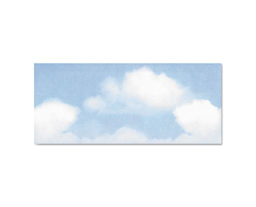 #10 Square Flap Envelopes (4 1/8 x 9 1/2) Blue Clouds