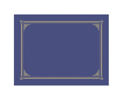 9 3/4 x 12 1/2 Certificate/Document Cover Blue Metallic Linen