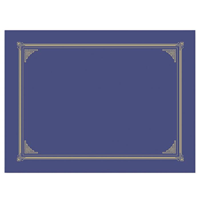 9 3/4 x 12 1/2 Certificate/Document Cover Blue Metallic Linen