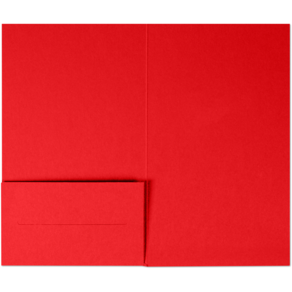3 x 5 Gift Card Holder Ruby Red
