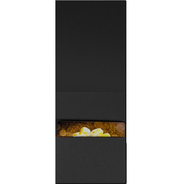 4 5/8 x 3 1/2 Gift Card Holder Midnight Black