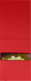 4 5/8 x 3 1/2 Gift Card Holder Ruby Red