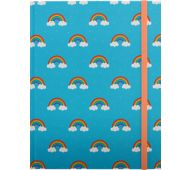 6 x 8 Hardbound Journal - Blue, Rainbows