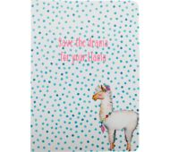 6 x 8 Soft Cover Paper Journal - Blue Dots, Drama Llama