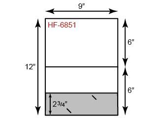 Small Presentation Folders - Landscape Orientation & One Pocket (Bottom)