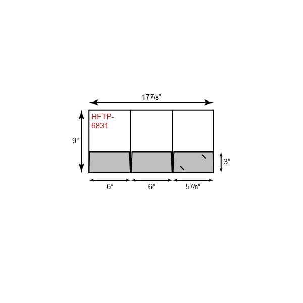 Small Presentation Folders - Tripanel w/ 3 Pockets