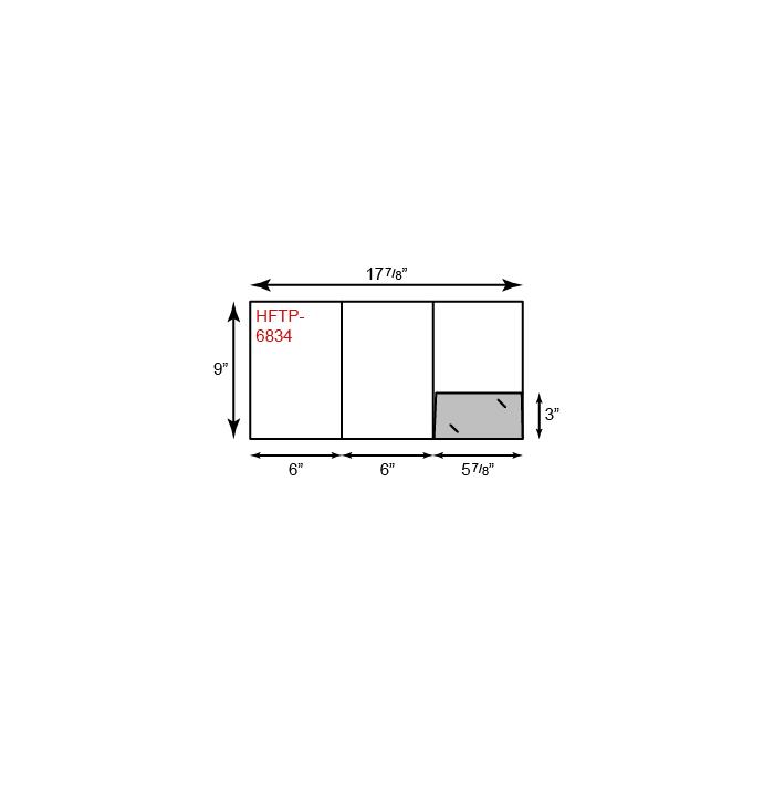 Small Presentation Folders - Tripanel w/ One Pocket (Right)