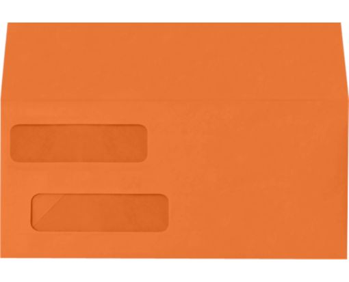 Double Window Invoice Envelopes (4 1/8 x 9 1/8) Mandarin
