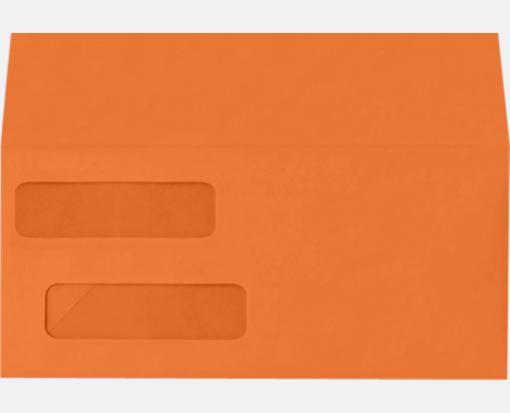 Double Window Invoice Envelopes Mandarin Orange X - 9 invoice envelopes