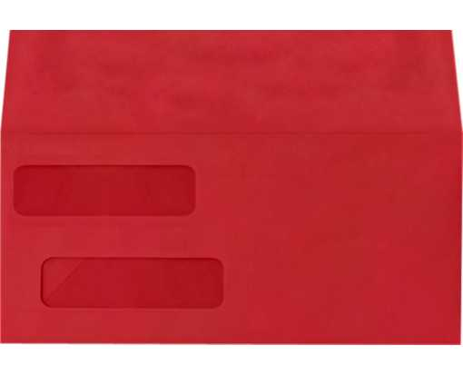 Double Window Invoice Envelopes (4 1/8 x 9 1/8) Ruby Red